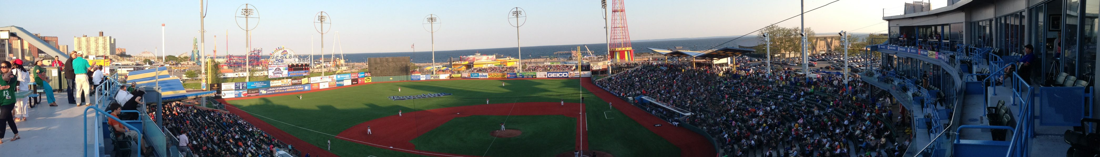 field view of MCU Park, home of the Brooklyn Cyclonces